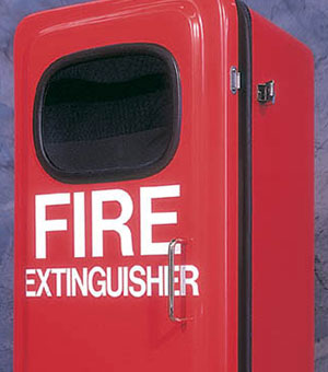 Red Fire Extinguisher Case